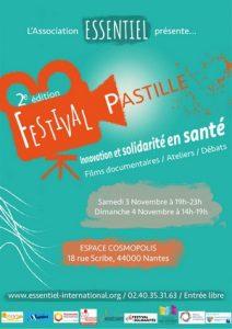 Affiche du festival du film documentaire en santé Pastille