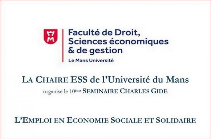 Séminaire Chaire Charles Gide de l'Université du Mans