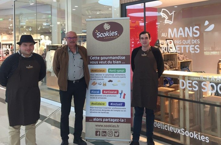 La Mutualité aux côtés des co-fondateurs de Sookies au Mans