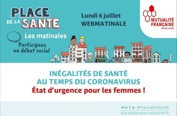 WebMatinale : Inégalité de santé pour les femmes pedant le coronavirus